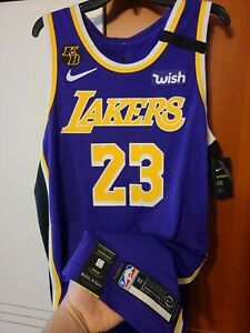 Lebron James 2019-20 Los Angeles Lakers Nike Purple Authentic Jersey Size 52 +2