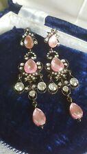 Pink Earrings. Costume Jewellery. Party Accessories. Eid Gifts