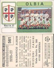 CALCIATORI PANINI 1976/77 * FIGURINA STICKER N.561 * OLBIA *NEW