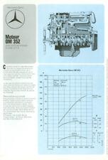 OPUSCOLI MERCEDES-BENZ Motor OM 352 402 401 - 1976