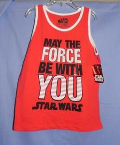 NWT - Boy's Star Wars: May the Force Be With You Tank - Red - Sz 5/6