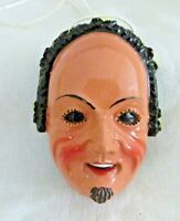 Swabian Alemannic Carnival Miniature Face, Man, Hand Painted Resin, Hanger