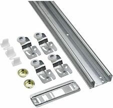 "48"" Galvanized Steel Sliding Door Closet Hardware Set Track Kit Bi-pass"