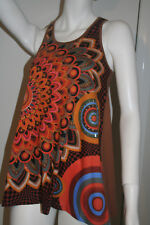 BNWT Desigual Brown Tank Top Size Small