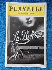 La Boheme - Broadway Theatre Playbill w/Ticket - January 28th, 2003 - Hopkins