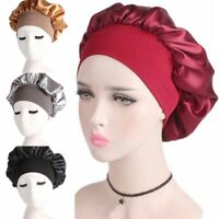 Women Satin Head Cover Hat Headscarf Sleeping Bonnet Hair Wrap Silk Cap Headband