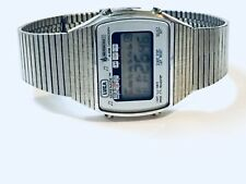 Vintage Luka Silver Tone Digital Alarm Chronograph Mens Wrist Watch (LUKA 8H)
