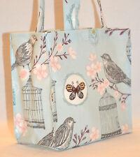 Calidad hechos a mano bolsa de compras de hule medio-Flor Mariposa
