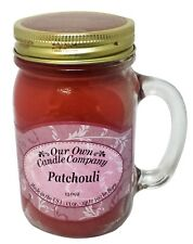 Patchouli Scented Candle in 13 oz Mason Jar by Our Own Candle Company