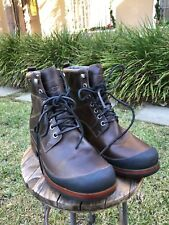 UGG AUSTRALIA MENS WINTER LEATHER BOOTS EVENT WATERPROOF SHOES BROWN US 9 NEW