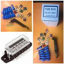 1 Set Circuit Blade Fuse Box Block Fuse Holder Set+Spade Terminals Fuse for Car