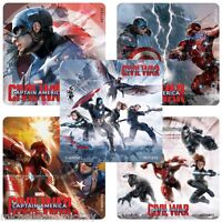 Captain America Stickers x 5 - Civil War Movie - Birthday Party Avengers Party