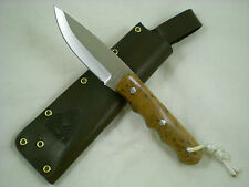 Triple-X Knives One Off Custom Pro Bushcrafter Knife, CANX60 Steel, Maple