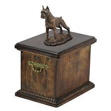 madera maciza Ataúd Boxer Cortos CONMEMORATIVO Urna para de perro cenizas, con