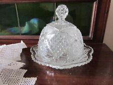Depression Glass Butter Dish Glass