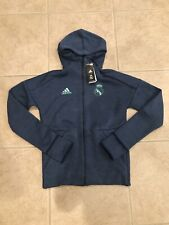 🔥NWT $130 ADIDAS REAL MADRID ZNE HOODIE 3.0 HOODED JACKET BLUE SZ S MENS DX8699