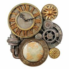 3D TIME GEAR CLOCK SCULPTURE Industrial Mechanical Christmas Steampunk © Art