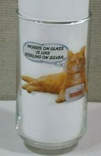 "A VINTAGE '70'S ""MORRIS THE CAT"" 9 LIVES PROMO TUMBLER VERY GOOD CONDITION"