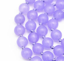 New 6mm natural purple jade gemstone beads necklace 18""