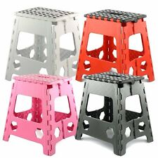 PLarge Folding Step Stool Heavy Duty for Kids and Adults Capacity 150kg Multicol