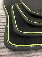 Original Lengenfelder Fußmatten für Skoda Octavia III RS + Nubuk  Grün + NEU