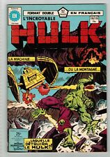 FRENCH COMIC FRANÇAIS EDITION HERITAGE INCREDIBLE  HULK  #  118 / 119   S18-AV