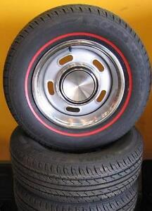 FORD XW XY GT 5 SLOT WHEEL & TYRE PACKAGE NEW