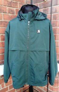 Carhartt WIP Hooded Windbreaker Nimbus Pullover Jacket - 2XL - Dark Green
