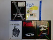 vintage computer manual Lot of 3 Unix Manuals and 2 Manuals in Tcl and Tk