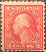 Scott #463 US 2 Cent 1916-17 Washington Postage Stamp Perforated 10