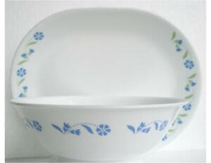 Corelle SPRING BLUE 12 1/4 x 10 SERVING PLATTER Plate Tray Daisy Floral & Leaves