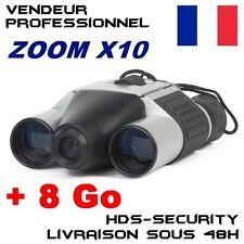 JUMELLES CAMERA ESPION + MICRO SD 8 GO ZOOM X10 VIDÉO PHOTO DT08 HDS-DT08 DVR DV