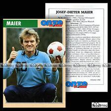 MAIER JOSEF-DIETER (FC BAYERN MÜNCHEN EV MUNICH) Fiche Football / Fussball 1992