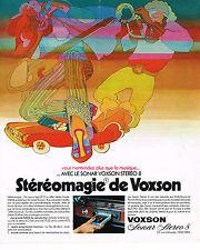 PUBLICITE ADVERTISING 054  1973  VOXON  le SONAR   auto-radio STEREOMAGIE