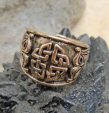 massiv Bronzering Kelten Vierfacher Knoten  Mittelalter Gr.52-60 oder 16-19mm