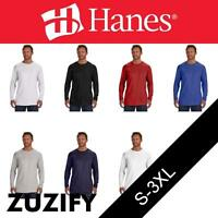 Hanes Nano-T Long-Sleeve T-Shirt. 498L
