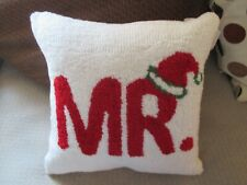 """Nwt Christmas Holiday """"Mr.Claus"""" Needlepoint Pillow Bed Couch Chair, 14"""" x 14"""""""