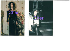 CHER GORGEOUS SEXY BLACK LEATHER PANTS SET OF 2 PHOTOS LOT CANDID