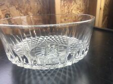 Arcoroc France Clear Glassware Cut Starburst Diamond Bowl Vintage Depression
