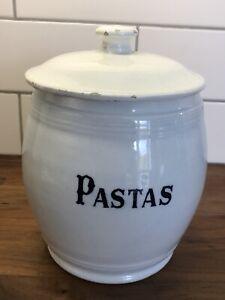 LARGE ANTIQUE SPANISH FOOD STORAGE JAR - PASTAS