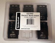 SpeakerCraft EZ-PAD Decora* Black Insert for FKP-1.0, Contains (5) Inserts - NEW
