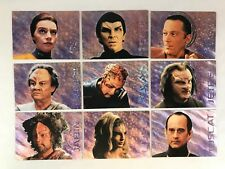 STAR TREK VOYAGER SEASON 1 SERIES 2 Complete XENOBIO SKETCHES Chase Card Set (9)