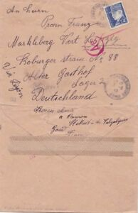 Germany  1943  Ex France, St Matins Vagalues to Markleberg Lager 3 {See Below}