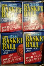 1991-92 Fleer Basketball Individual Wax Packs Modern (1970-Now), Original