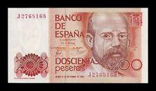 B-D-M España Spain 200 Pesetas Leopoldo Alas Clarín 1980 Pick 156 SC UNC