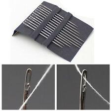 12pcs Hause Einfache Hand Nähnadeln Selbst Threading Werkzeuge*Handwerk Quilten