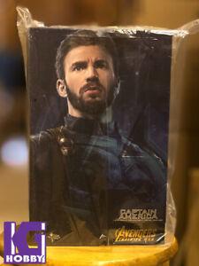 Hot Toys MMS480 Captain America Avengers Infinity War 1/6 Figure New Chris Evans