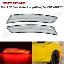Rear Red LED Side Marker Lamp Light Clear Lens For 2016 2017 2018 Chevy Camaro
