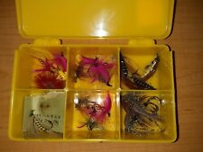 Vintage Fly Box With Fishing Flies