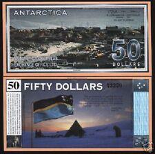 ANTARCTICA USA 50 DOLLARS 2001 DOG FLAG TREATY UNC MONEY CANADA BILL NOTE